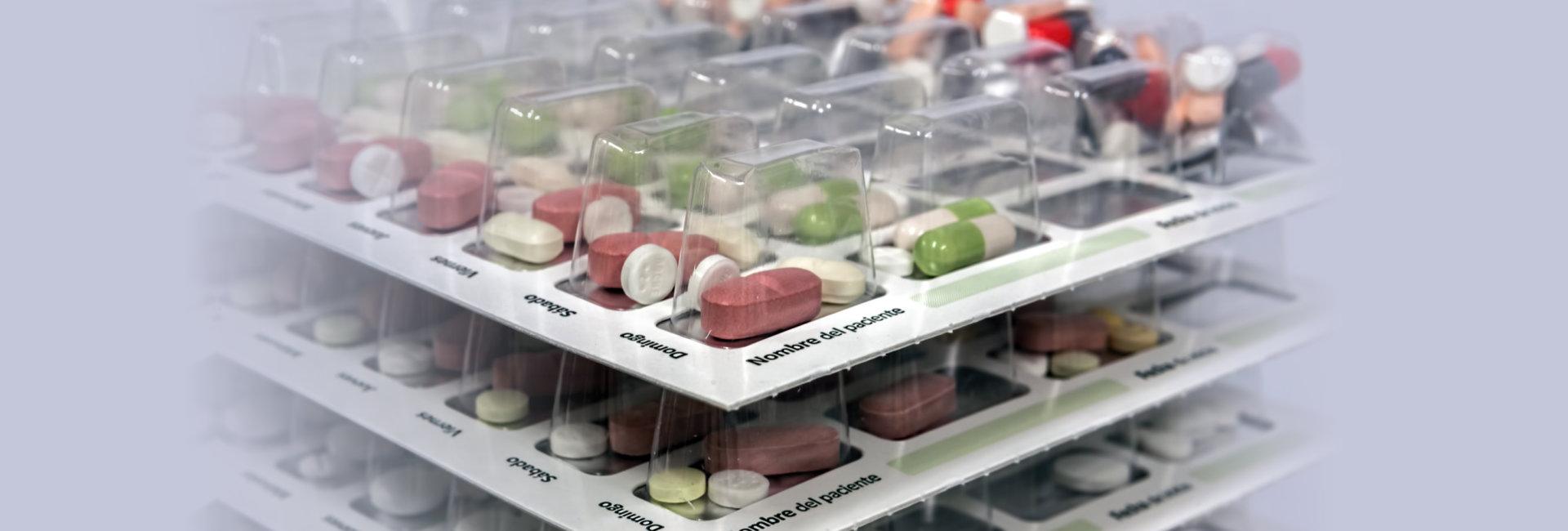 Pills with pill organizer